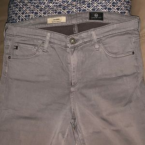 Adriano Goldschmied The Prima Mid-Rise Cigarette Pants Gray Skinny